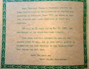 this comes from merry christmas from valley rural electric co op inc a 32 page booklet celebrating the golden anniversary of franklin roosevelts - The Christmas Spider